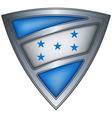 steel shield with flag honduras vector image vector image