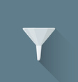 flat metal funnel icon vector image vector image