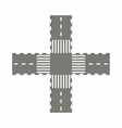 Empty road intersection icon cartoon style vector image