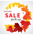 autumn sale banner flat design vector image