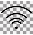 black Wi-Fi Icon on transparent vector image