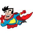 Cartoon of an Flying Super Hero vector image