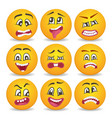 emoticons or smileys icons set for web vector image