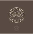 retro bike logo cycling club emblem vector image
