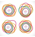 Set of colorful round abstract banners vector image