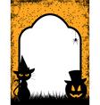 halloween border background vector image