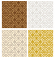 Damask Seamless Color Set vector image vector image