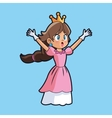 Princess and videogame design vector image