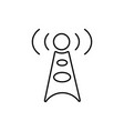 antenna communication technology cell tower icon vector image
