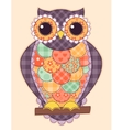 Colored patchwork owl vector image
