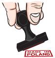 lupam pecat Poland vector image vector image