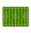Green grass soccer field vector image vector image