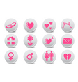 love buttons vector image vector image