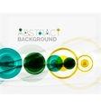 Circle geometric shape composition vector image