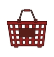 basket red market buy isolated vector image