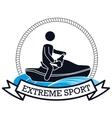 extreme sport jet ski banner design vector image