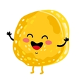 Funny cookie isolated cartoon character vector image