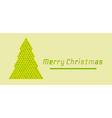 retro merry christmas card vector image