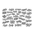 set of hand lettering biggest cities in the world vector image