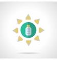 Solar energy flat color icon vector image