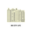 thin line skyscrapers icon vector image