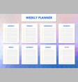 weekly planner design vector image