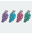 Hand-drawn grape - on the theme of the summer and vector image