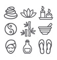 Spa line icons vector image vector image