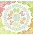 Butterflies and nature pattern background vector image vector image