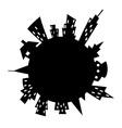 cartoon style city around vector image