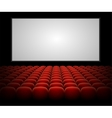cinema auditorium with blank screen vector image