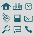 Flat icon for communication vector image