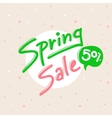 Spring Sale design with lettering in soft vector image