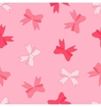 stock seamless pattern of pink bow vector image