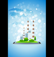 Power Plant on Tablet Computer vector image vector image