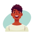 Young african man face wow facial expression vector image
