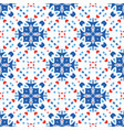 blue flower pattern boho background vector image
