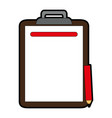 clipboard with pencil icon image vector image