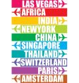 tag of different place vector image vector image