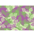 leaves pink green seamless vector image