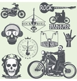 Rock themed badges vector image
