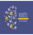 decorating design made of robots vector image