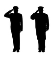 Saluting vector image