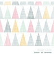 Abstract textile colorful textured triangles frame vector image