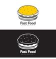 Burger logo set vector image