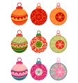 Christmas balls isolated on white background vector image