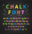 Colorful retro hand drawn alphabet letters drawing vector image
