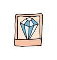 diamond in a casket cartoon icon vector image