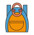 drawing blue and yellow bag student school vector image
