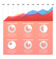 infographics elements line and pie chart vector image
